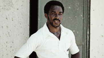 Roland Butcher during a tour game in West Indies