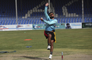 Zahir Khan bowls in Afghanistan's first training camp in months, Kabul, June 10, 2020