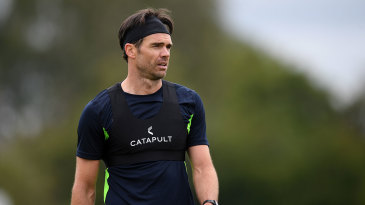James Anderson trains in preparation for the West Indies Test series