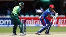 Ibrahim Zadran plays a shot, South Africa v Afghanistan, U-19 World Cup, Kimberley, January 17, 2020