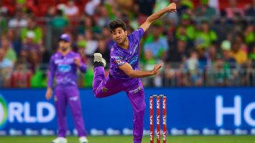 Qais Ahmed bowls