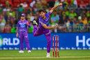 Qais Ahmed bowls, Sydney Thunder v Hobart Hurricanes, Big Bash League, Sydney, January 11, 2020