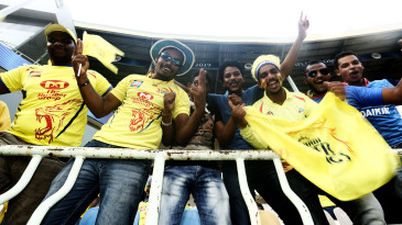 Chennai Super Kings fans enjoy the game