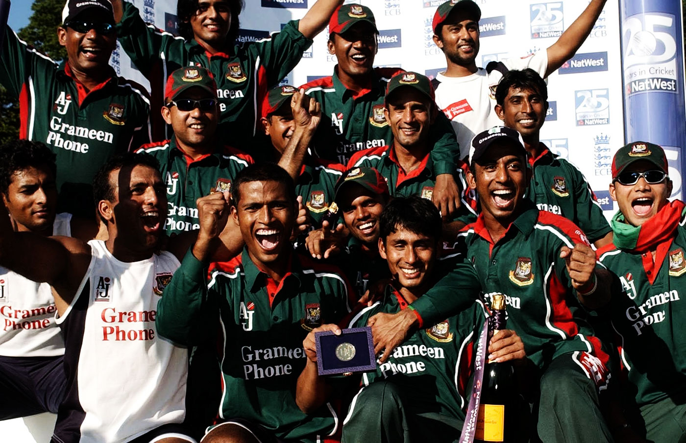 Bangladesh celebrate their historic win