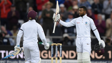Shai Hope made centuries in each innings at Headingley in 2017 - the first man to do so in a first-class match