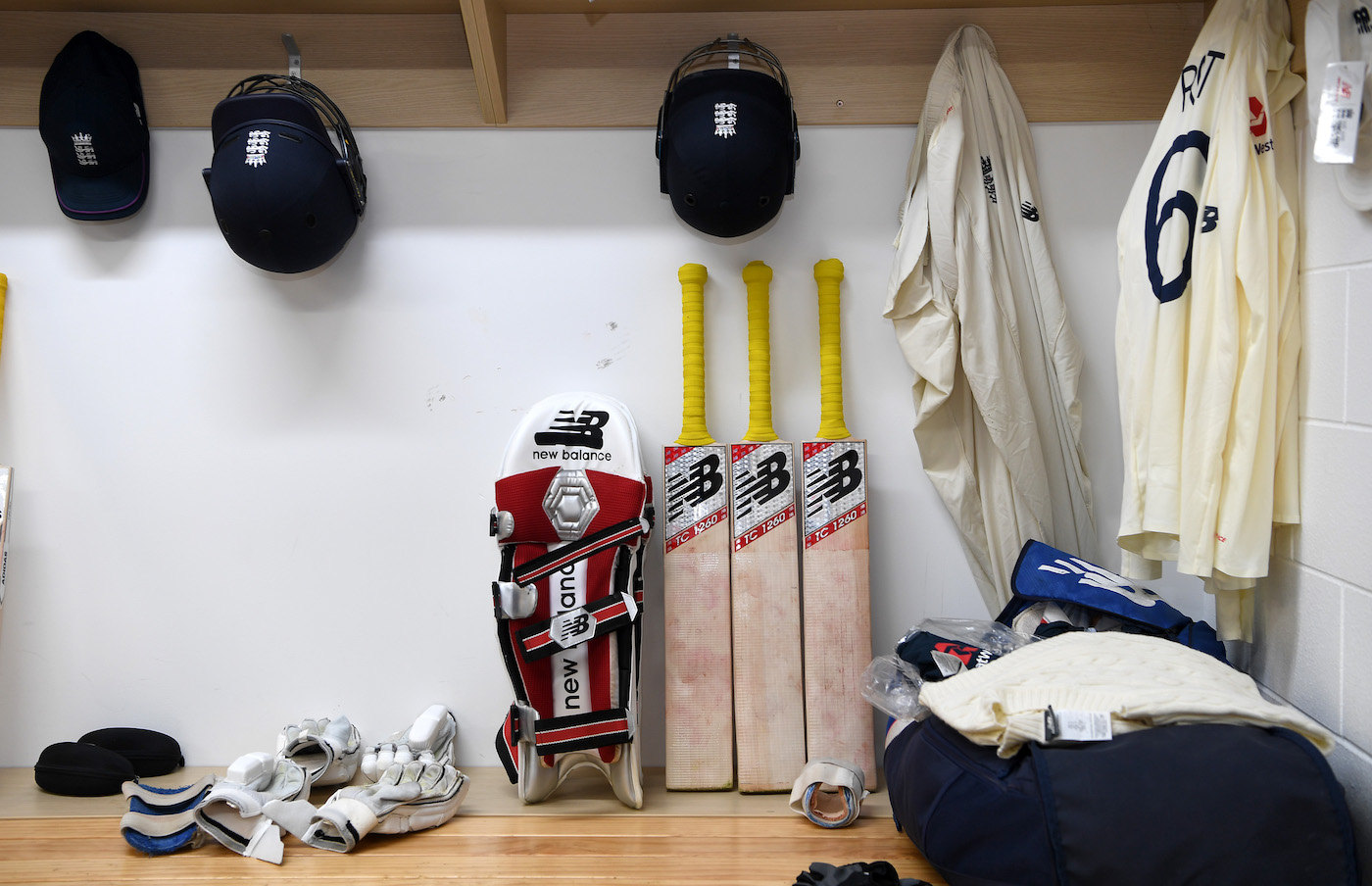 A place for everything and everything in its place: Joe Root's kit is set up and ready for demolition