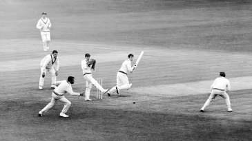 Basil D'Oliveira lunges to intercept a ball played by Ian Chappell during a tour game in 1968. In 1972, Chappell was witness to a racist act against D'Oliveira in Zimbabwe