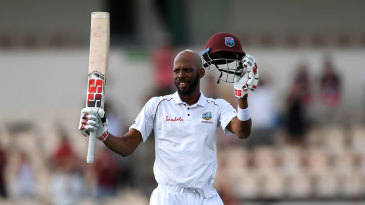 Roston Chase made a century on his previous Test appearance against England in 2018-19