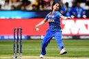 Poonam Yadav bowls, Australia v India, final, Women's T20 World Cup, Melbourne, March 8, 2020