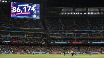 A record number of people attended the Australia v India final at the MCG