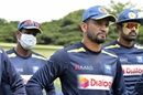 Dimuth Karunaratne and his team-mates at a training camp as lockdown restricts ease in Sri Lanka, Kandy, June 24, 2020