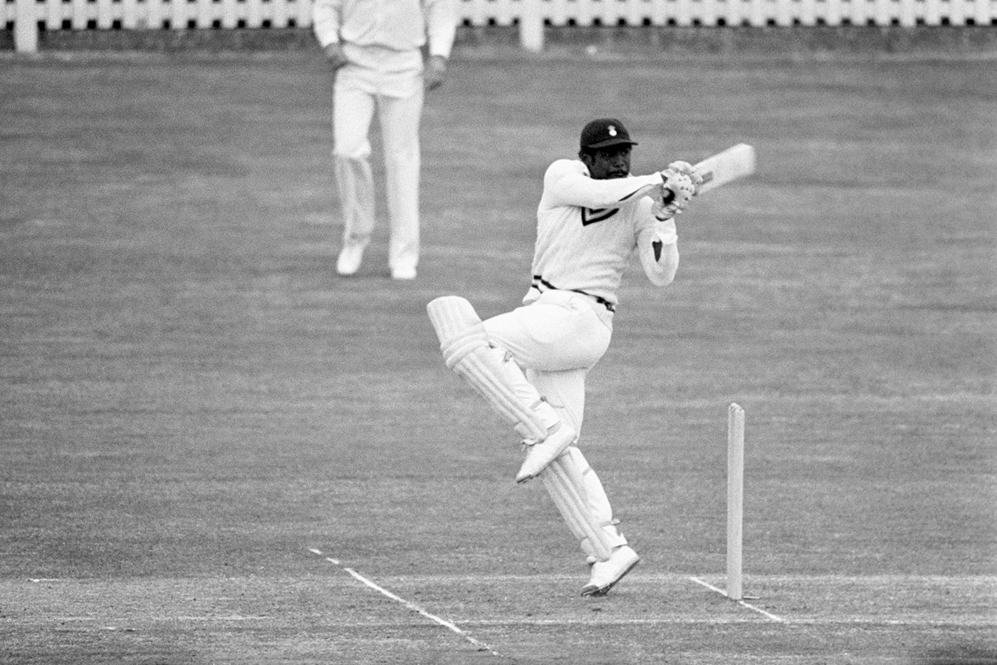 A familiar sight across county grounds in the '80s: Greenidge hooking and pulling with his left knee raised