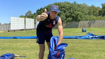 Jos Buttler gives a thumbs up in England training