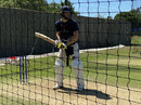 Chris Woakes bats in England training, Ageas Bowl, June 26, 2020