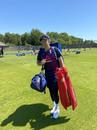 Joe Root looks on in England training, Ageas Bowl, June 26, 2020