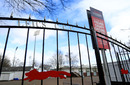 The gates at Leicestershire CCC ahead of the club's return to training, Grace Road, Leicester, March 24, 2020