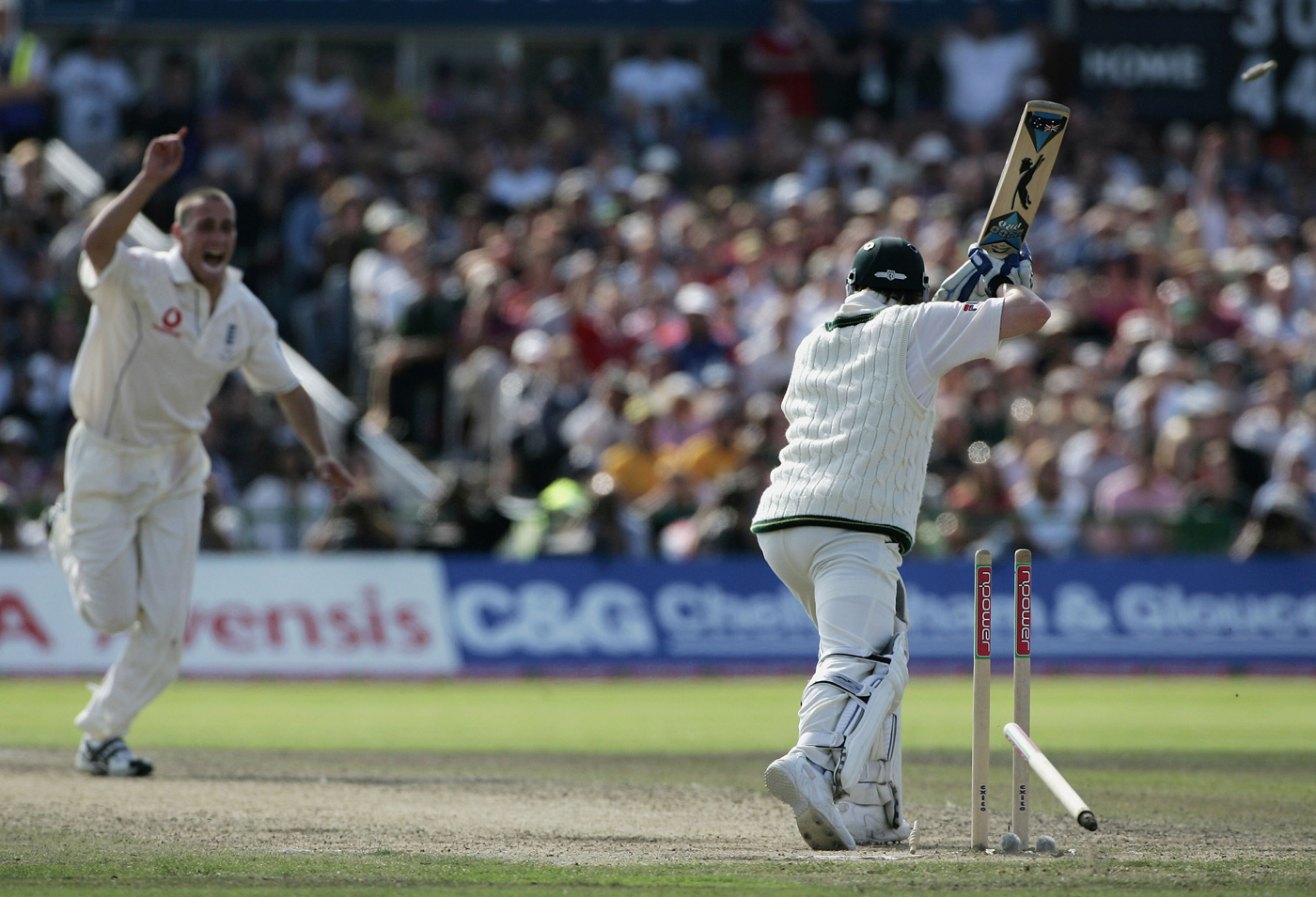 Simon Jones' dismissal of Michael Clarke in the third Test of the 2005 Ashes is an iconic moment from that great series