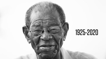 Sir Everton Weekes, who has died at the age of 95
