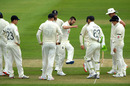 Mark Wood celebrates with team-mates after taking the wicket of Jonny Bairstow, Stokes v Buttler, day two, Ageas Bowl, July 02, 2020