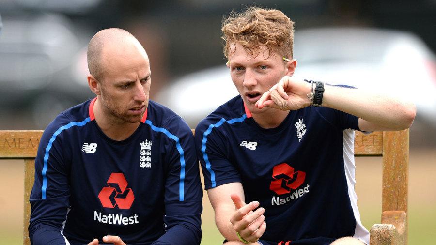 Bess and Leach: Somerset team-mates, England rivals
