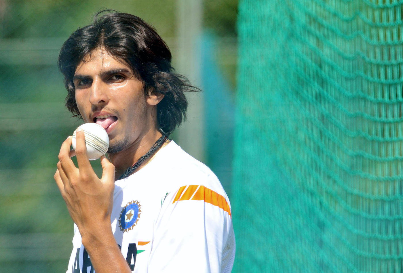 Ishant Sharma commits the flavour of the ball to memory