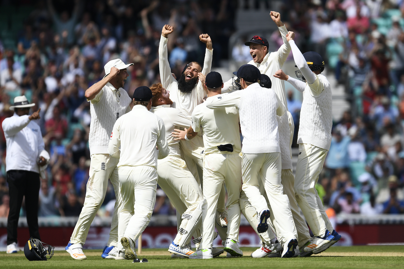 Imagine Moeen Ali celebrating his 2017 hat-trick with a round of nods from his team-mates