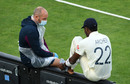Jofra Archer receives treatment on his left foot, Stokes v Buttler, day two, Ageas Bowl, July 2, 2020