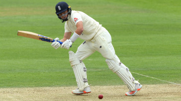 Ollie Pope made an unbeaten half-century in the second innings