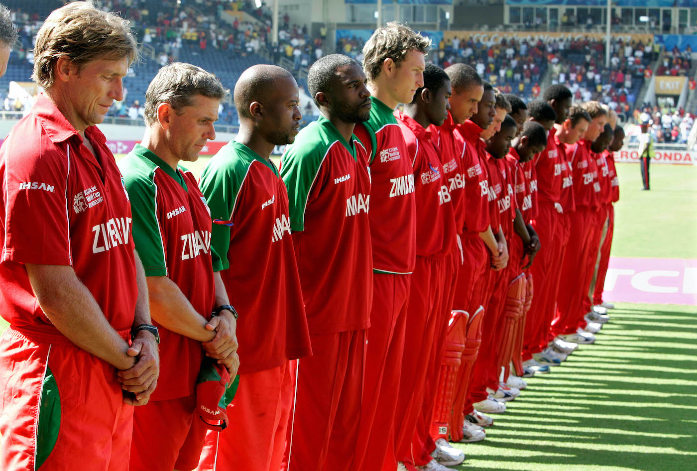 Kevin Curran (extreme left) played two World Cups for Zimbabwe and coached the national team in the 2007 edition