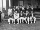 Members of the Kent County Cricket team. Standing l to r, C Lewis, W Ashdown, Mr W H V Levett, A Watt, A Fagg D Wright. Sitting l to r, A P Freeman, Mr I Akers-Douglas, Mr B H Valentine, Frank Woolley (1887 - 1978), L Todd, May 15, 1936