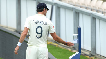 There will be hand sanitiser dispensers placed around the ground during the England-West Indies Test series