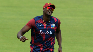 Jason Holder takes part in a fielding drill at the Ageas Bowl on the eve of cricket's return