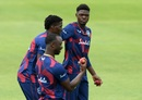 Alzarri Joseph, Chemar Holder and Kemar Roach, three of the pace options for West Indies, Southampton, July 7, 2020