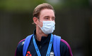 Stuart Broad wears a face mask ahead of the start of play, England v West Indies, 1st Test, day 1, Southampton, July 08, 2020