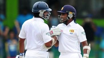 Kumar Sangakkara and Mahela Jayawardene have each been part of two partnership stands of 400-plus runs