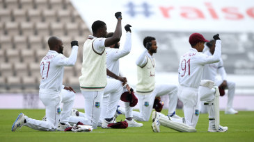 West Indies' players take a knee in support of Black Lives Matter