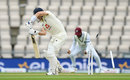 Joe Denly is bowled by Shannon Gabriel, England v West Indies, 1st Test, 2nd day, Southampton, July 09, 2020