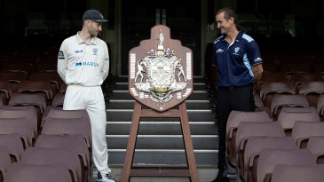 Peter Nevill and Phil Jaques with the Sheffield Shield