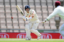 Joe Denly plays a shot, England v West Indies, 1st Test, 4th day, Southampton, July 11, 2020