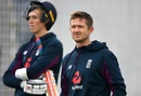 Joe Denly during a practice session with Zak Crawley in the background, Manchester, July 14, 2020