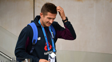 Joe Denly arrives at training
