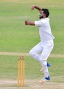 Kashif Bhatti in his delivery stride