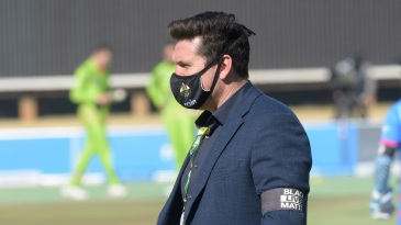 Graeme Smith sports a 'Black Lives Matter' armband during the 3TC match