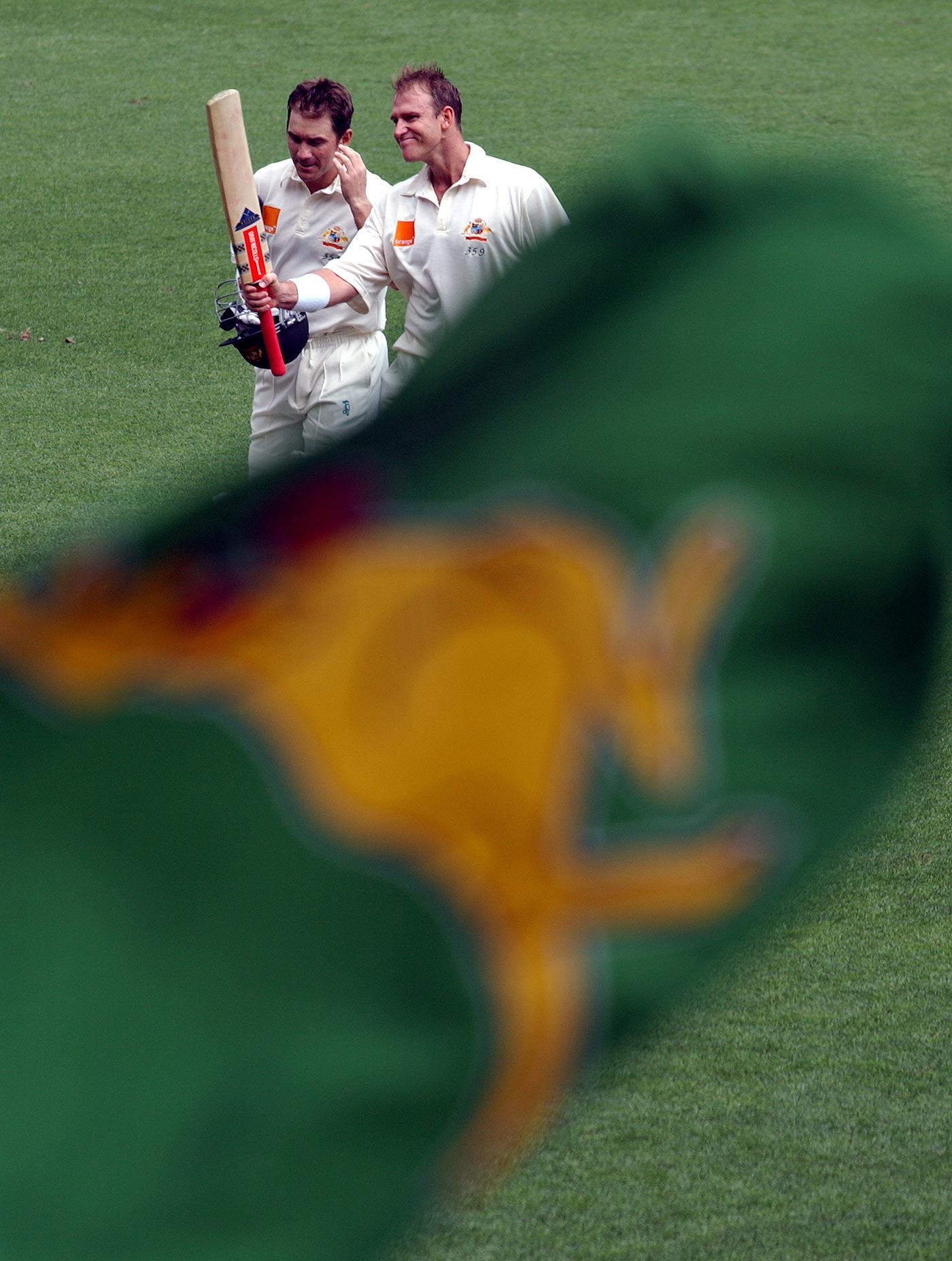 At tea on day one, Australia's openers had plenty to smile about