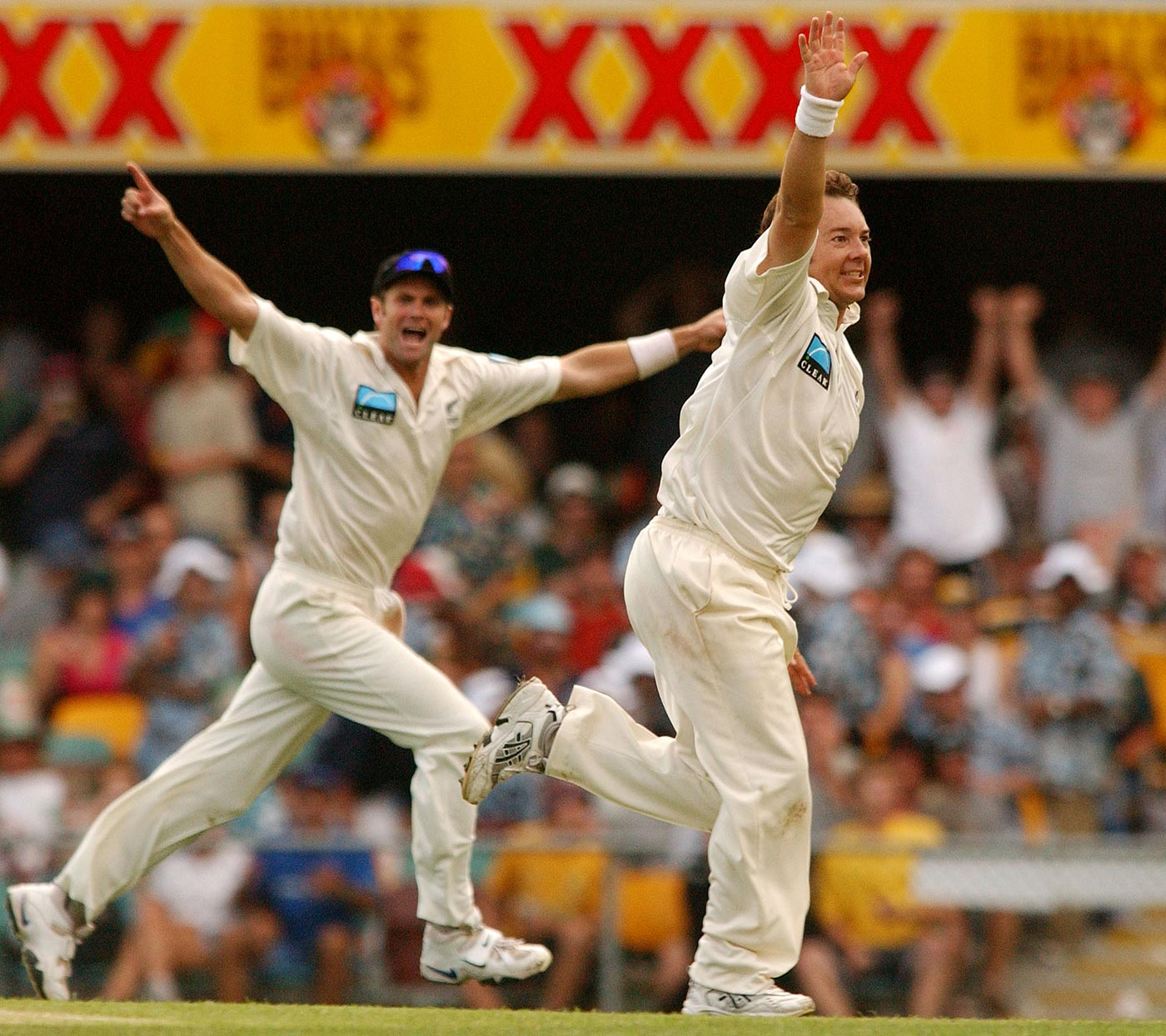 The old firm: Cairns and McMillan made 172 runs and took nine wickets between them in the match