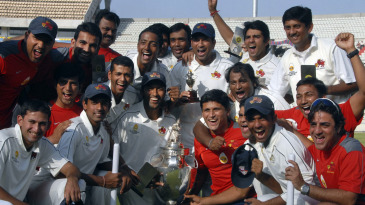 Mumbai pose for a photograph after winning the Ranji Trophy for the 38th time