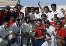 Mumbai pose for a photograph after winning the Ranji Trophy for the 38th time, final, Mumbai v Uttar Pradesh, Ranji Trophy 2008-09, Rajiv Gandhi International Stadium, Hyderabad, Jan 16, 2009.