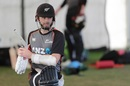 Kane Williamson gets ready for a hit in the nets at Bay Oval, Mount Maunganui, July 22, 2020