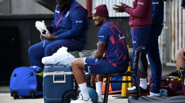 Shannon Gabriel went off with an injury in the second Test