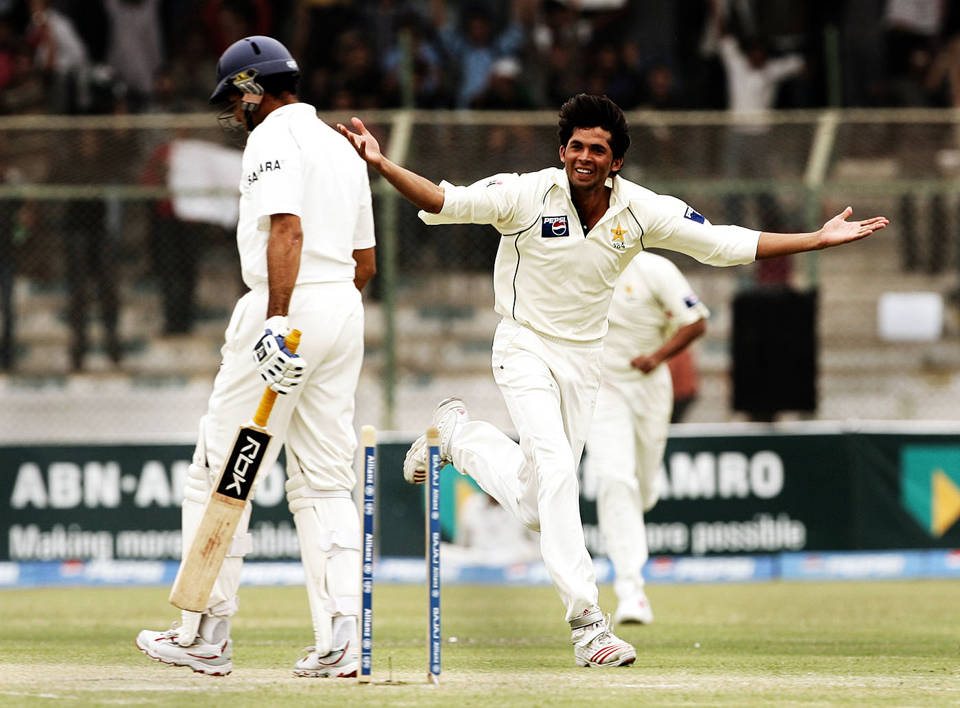 Mohammad Asif bowled VVS Laxman twice in the Test